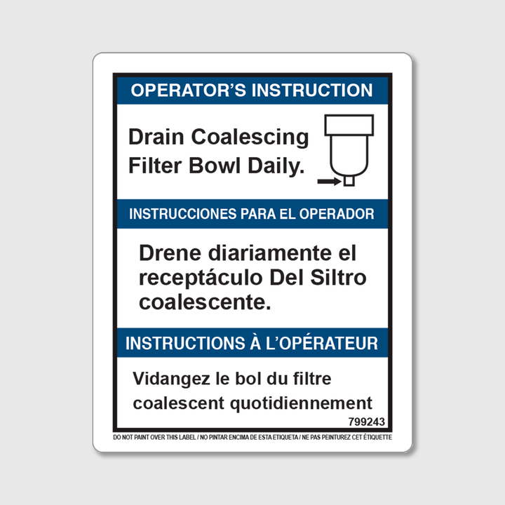Instructions - Drain Filter Decal