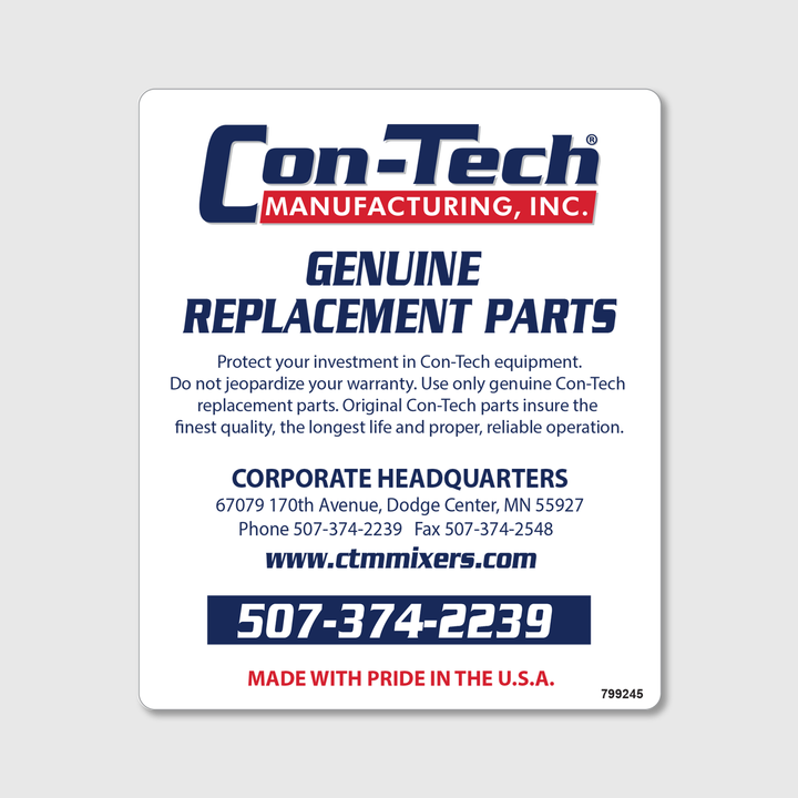 Genuine Replacement Parts Decal