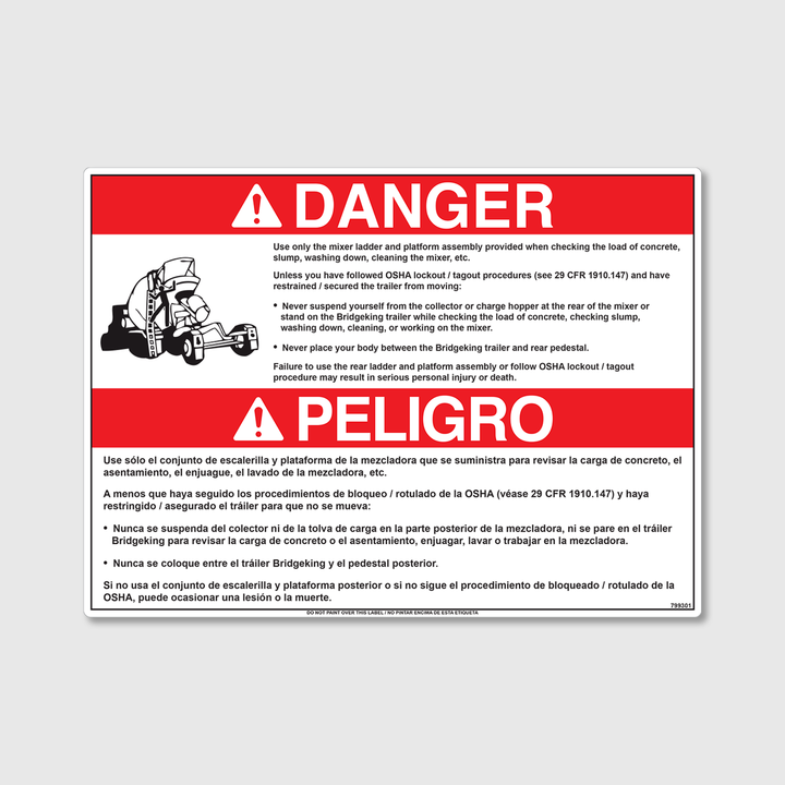 Danger! Use Ladder Only Decal