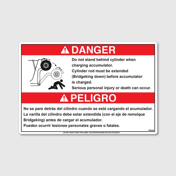 Danger! BK Arm In Motion Decal