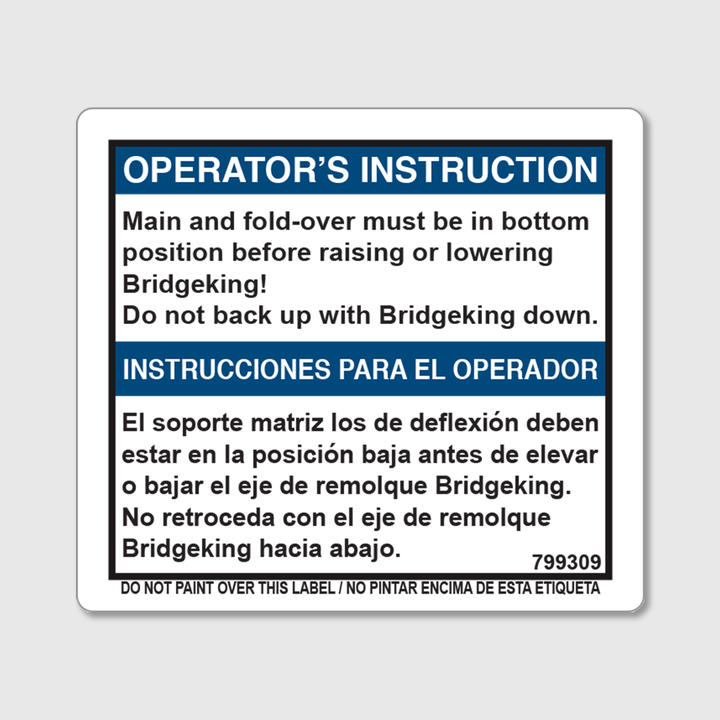 Instructions - Axle Psi Settings Decal