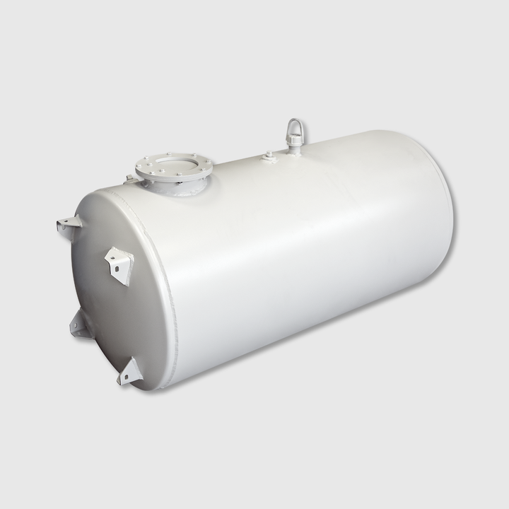 "125/15 Gallon Split Water Tank, 26"" Head, Aluminum"