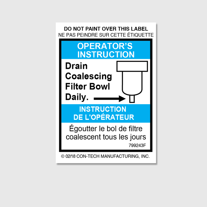 Instructions - Drain Filter Decal (French)