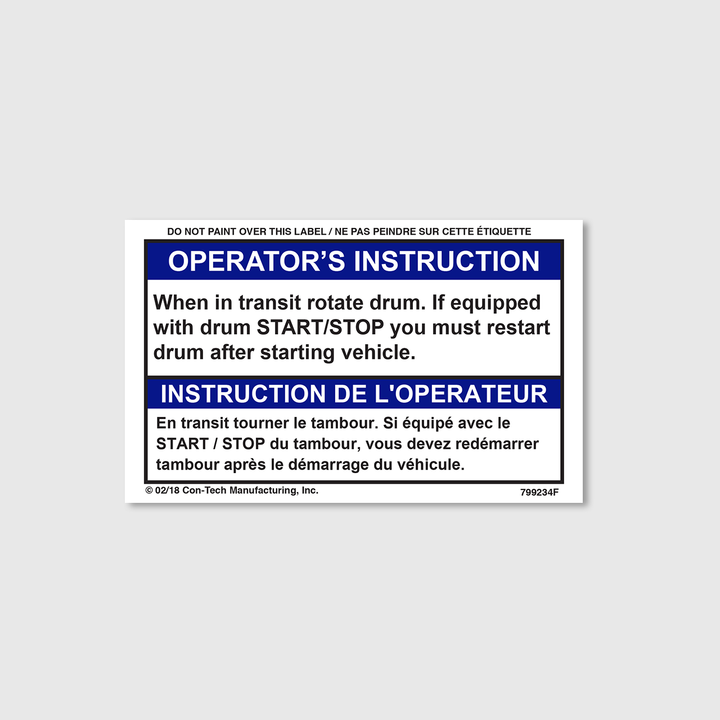 Operator's Instruction (French)