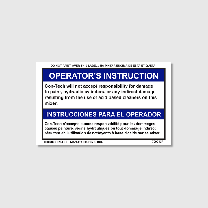 Instructions - Will Not Except Decal (French)