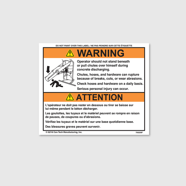 Warning! Operator Decal (French)