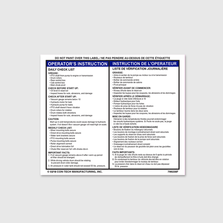 Instructions - Daily Checklist Decal (French)