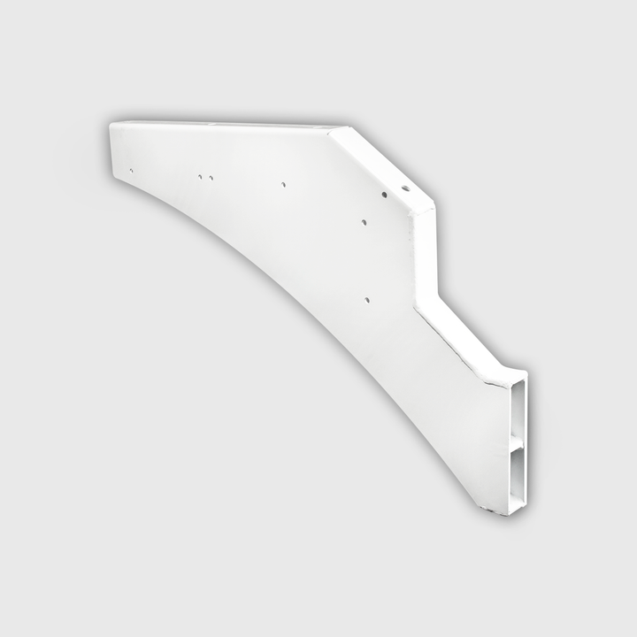 Front fender support, steel, right side.