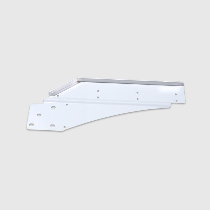 Fender Support, Front, RH, Steel, Rail Mount