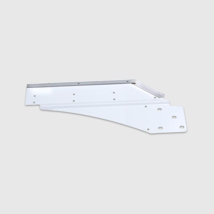 Fender Support - Front, LH, Steel, Rail Mount