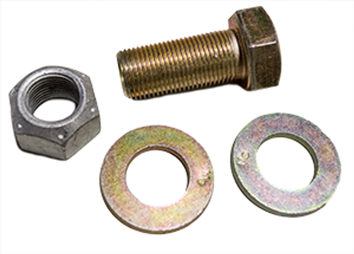 """Kit, BK Cylinder Mount (old style) 1"""" x 7"""" with 2 washers and nut (4 req'd)"""