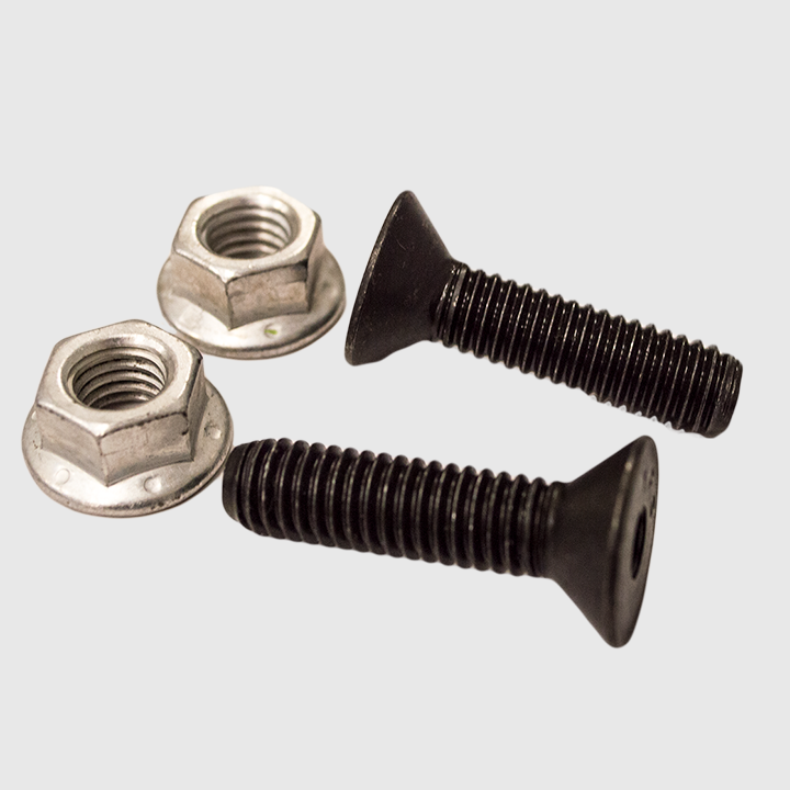 Kit - Attaching Bolt, Manual Chute Lock (2 counter sunk bolts w lk nuts)