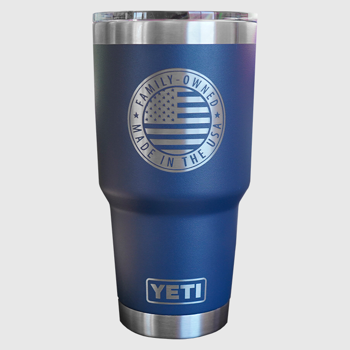 Con-Tech 30oz Yeti Rambler Back; Family-owned - Made in the USA