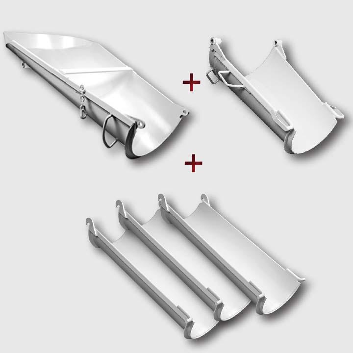 Chute Kit - Main, Standard Foldover, 3 Aluminum Extension Chutes, w/bolts
