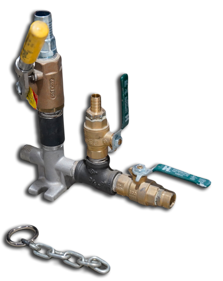 """600014 Dead Man Assembly 1"""" w/o Drain Hole - Chain and Ball Valve Included"""