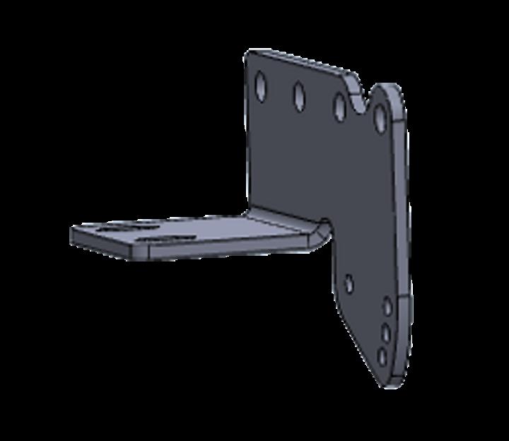 Bracket - Rear Recovery Plate / Adj Bumper Mounting, RH, BK