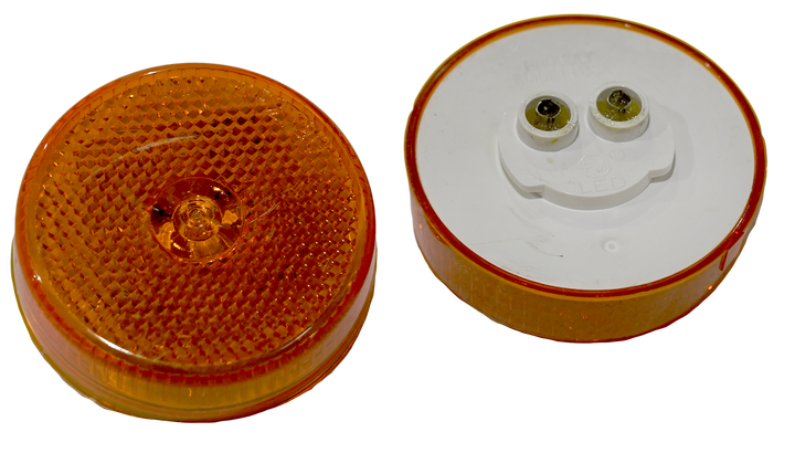 "Amber 2.5"" LED Light w/Reflector - PL-10"