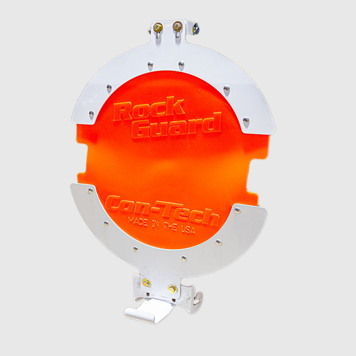 Rock Guard Assembly, Orange color.