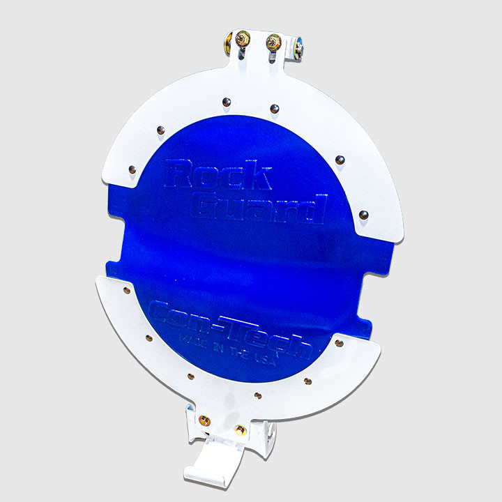 Rock guard assembly, color blue.
