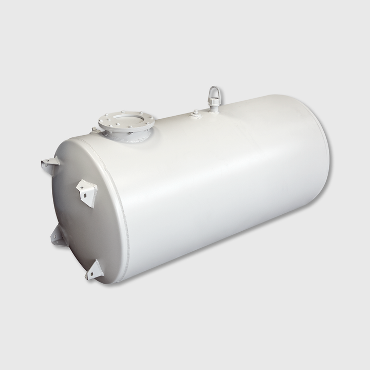 "100/15 Gallon Split Water Tank, 26"" Head, Aluminum"
