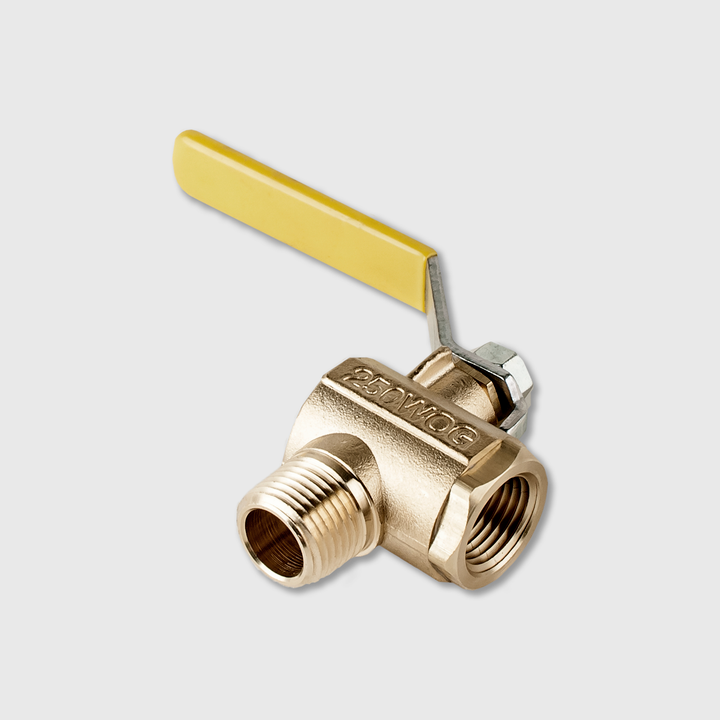 "1/2"" Ball Valve, Long Handle, 90 degree"
