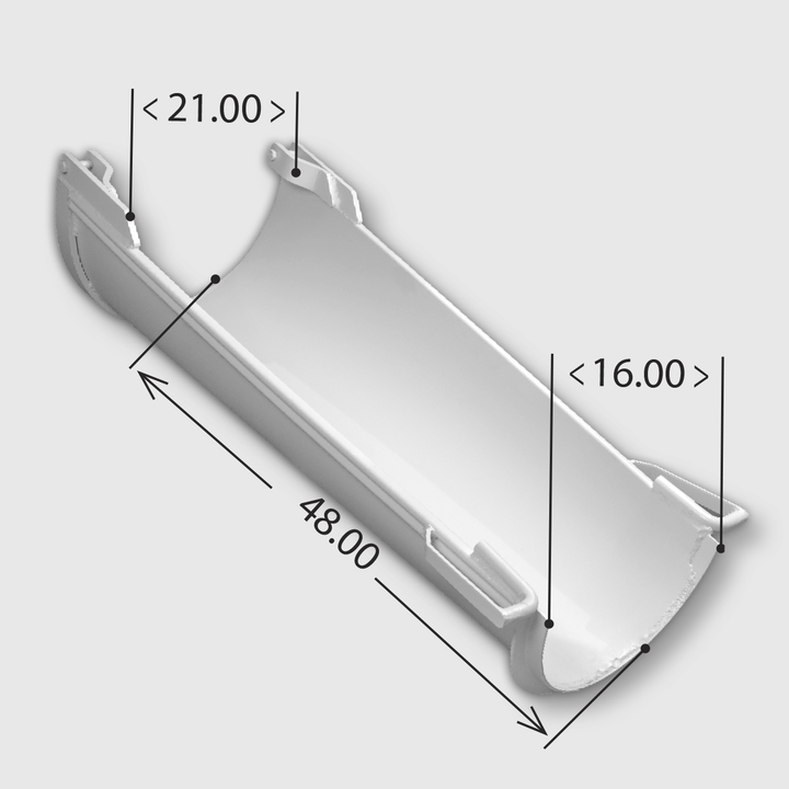Aluminum Transition Chute, PVR