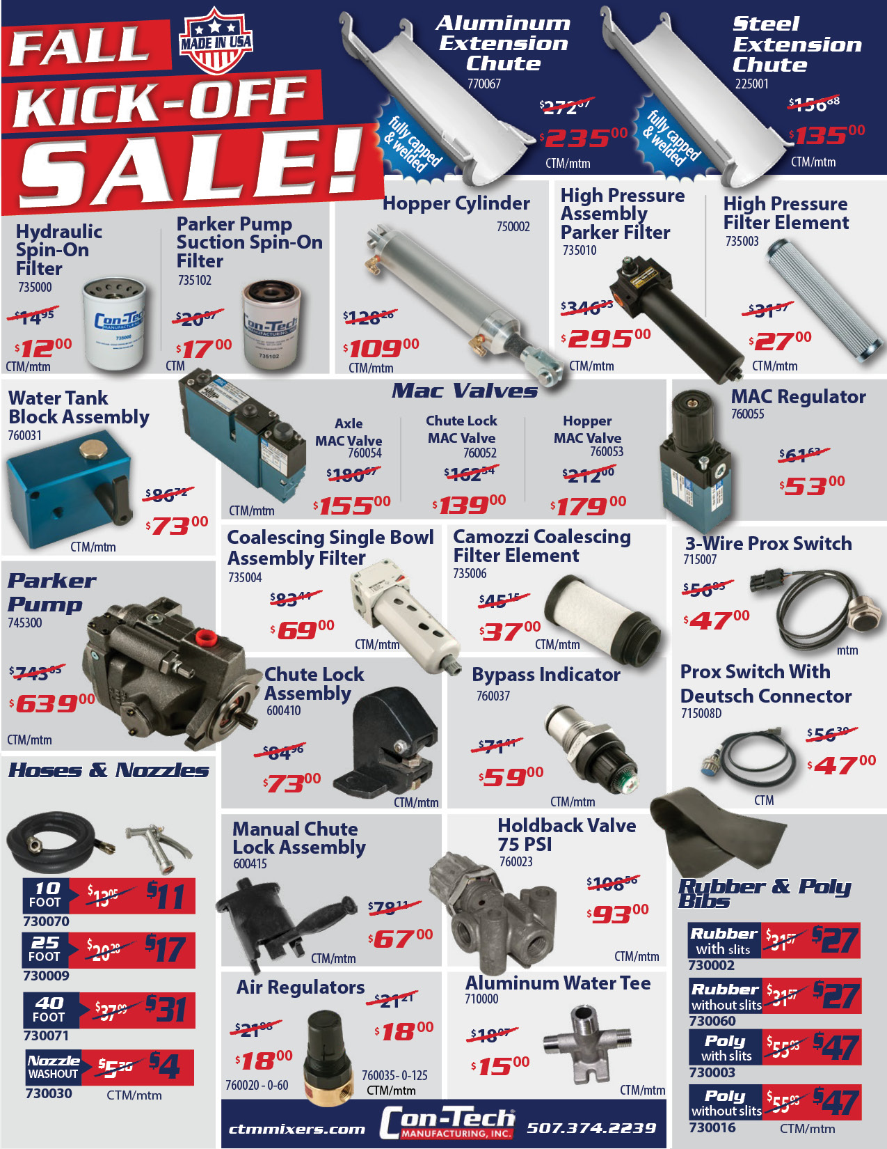 Con-Tech Manufacturing October Sales & Promotions