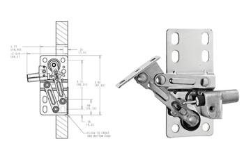 Chrome 6552-ETH-10 Rev-A-Shelf Euro Face Frame Tip-Out Tray Hinge