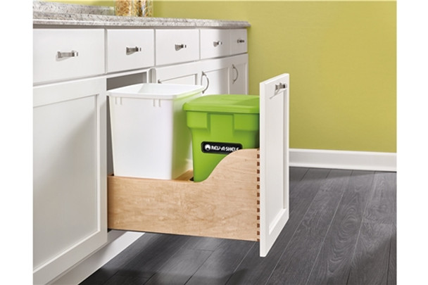 Rev-A-Shelf 4WCSC Series Wood Bottom Mount Pull-Out Compost Container