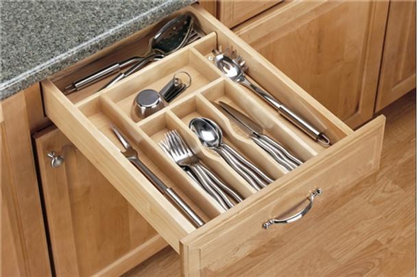 Rev-A-Shelf 4WCT Series Wood Cutlery Tray Insert
