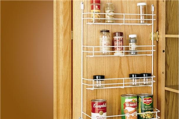 """10-5//8/"""" Width Wire Door Mount Spice Rack Rev-A-Shelf"""