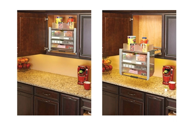 Rev-A-Shelf 5UPD24CRN Series Cabinet Pull-Down Universal Shelving System Wall Accessories