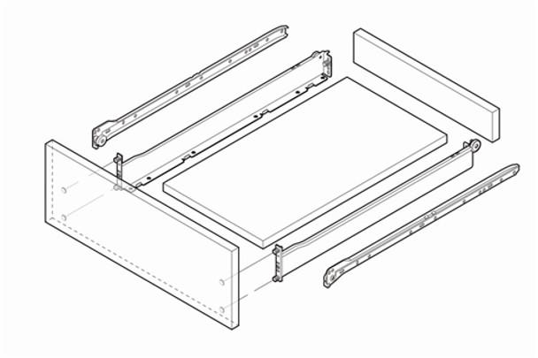 Grass Zargen 6136 Drawer Slide System