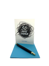 "30 days of sobriety is a huge milestone and deserves a card to celebrate.  Happy soberversary.  4.25"" x 5.5"" card is blank inside. Printed on heavyweight 100% cotton card stock. Includes a matching A2 envelope"