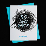 "The first 30 days of sobriety are incredibly tough and it is a huge accomplishment to stay sober for a month. Help support the recovery journey by celebrating with this note of encouragement.   - Blank inside - A2 size (4.25"" x 5.5"") - Printed in Phoenix, Arizona onto heavyweight 100% cotton card stock - Includes a matching envelope"