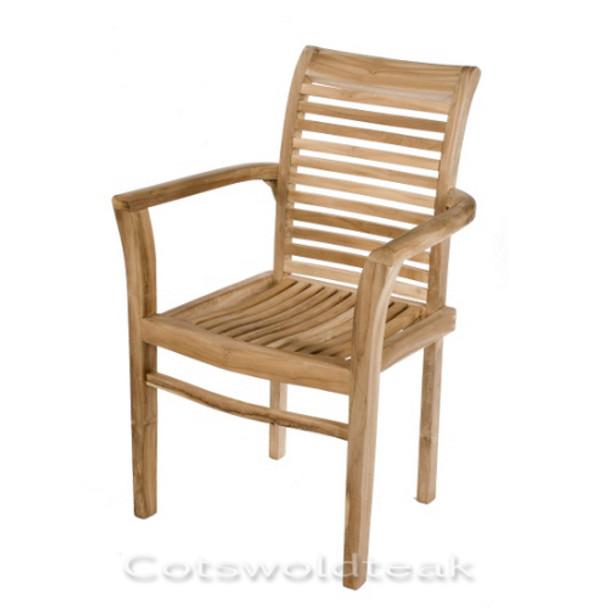 Tingewick Solid Teak Stacking Armchair