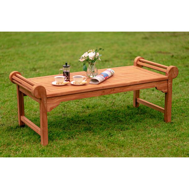 Rydal Lutyens Solid Teak Coffee Table