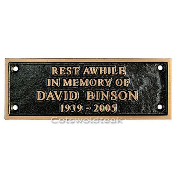 Bronze Personalised Memorial Plaque