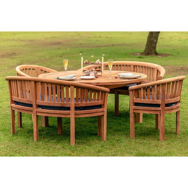 8 Seater Chunky Teak Churn Table 160cm