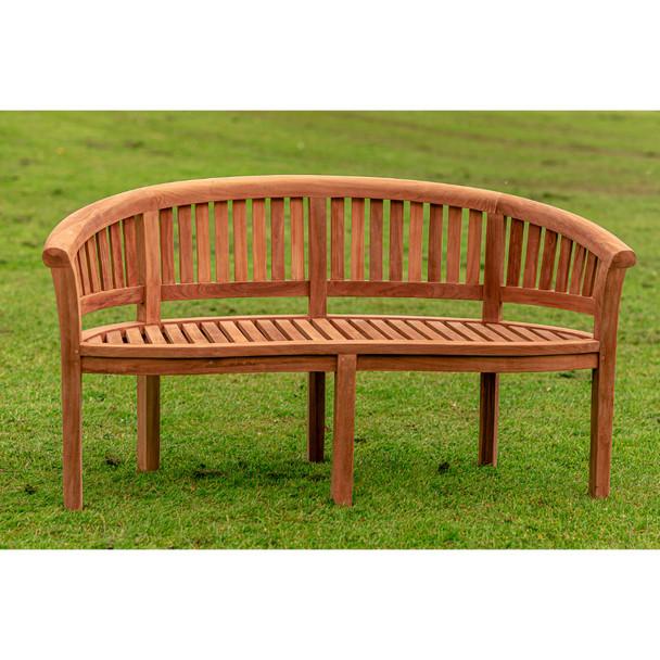 Crummock Solid Teak 3 Seater Bench