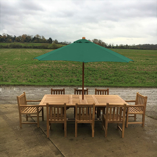 180-240cm rectangular table with 8 Grisdale chairs