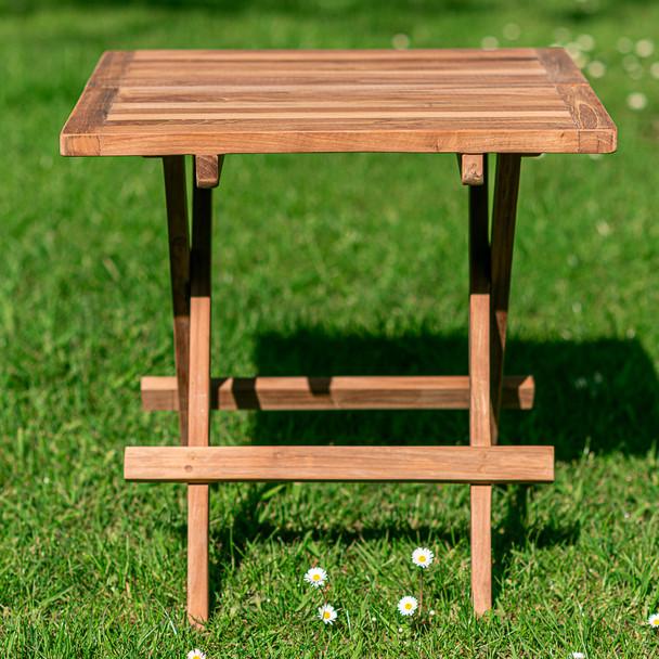 Square Folding Teak Picnic Table