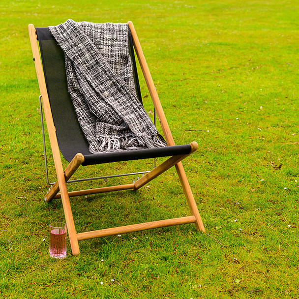 Traditional Solid Teak Sindos Beach Deck Chair