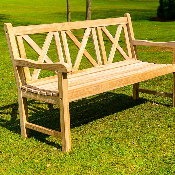 Three Seater Solid Teak Madras Bench