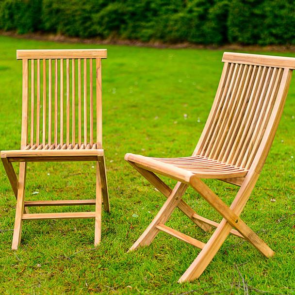 Folding Solid Teak Turin Deck Chair