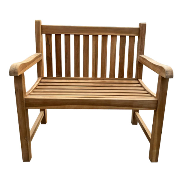 Buttermere Solid Teak 2 Seater Bench - 90cm