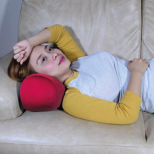Miraculous Cushie Pillows 7 X 12 Microbead Bolster Roll Pillow Red Creativecarmelina Interior Chair Design Creativecarmelinacom