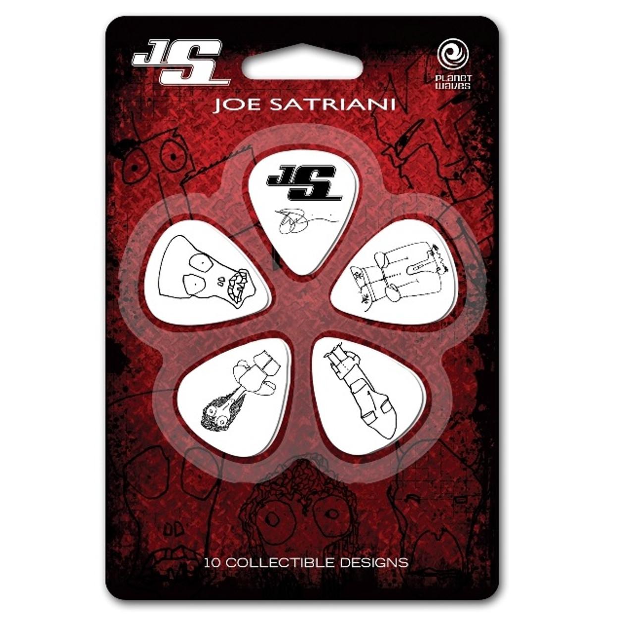 Planet Waves Joe Satriani Guitar Picks Black Light 10 Pack
