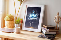 Incense Lion Head (Gallery Print)