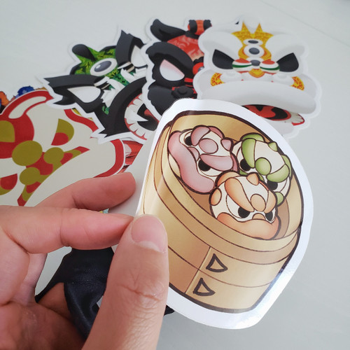 Large Gloss Stickers